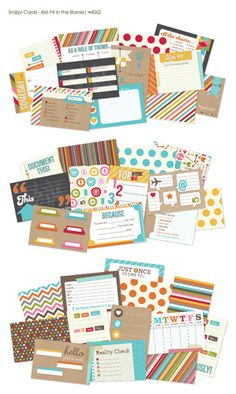 Simple Stories - SNAP Studio Collection - 4 x 6 Cards - Fill in the Blanks at Scrapbook.com $4.99