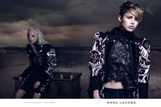 Marc Jacobs SS14 campaign ad shot by David Sims featuring Natalie Westling, Esmerelda Seay Reynolds, and Miley Cyrus