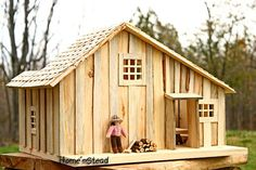 Natural Little House on the Prairie Dollhouse