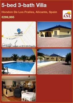 5-bed 3-bath Villa in Hondon De Los Frailes, Alicante, Spain ►€299,995 #PropertyForSaleInSpain