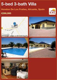 5-bed 3-bath Villa in Hondon De Los Frailes, Alicante, Spain ►€299,995 #PropertyForSaleInSpain