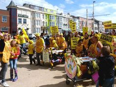 Lancashire: a local demonstration against fracking - 'Nanas to the front. Advance!' Photo: Victoria Buchan-Dyer via Flickr (CC BY-NC-ND).