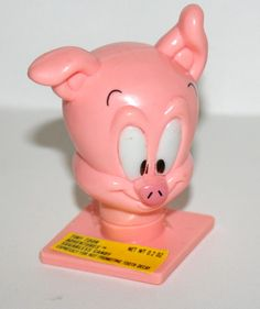 Vintage Tiny Toons Adventures Porky Candy Container Head Figure 1991 New