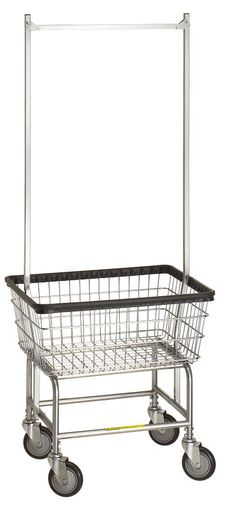 Standard Laundry Cart w/ Double Pole Rack