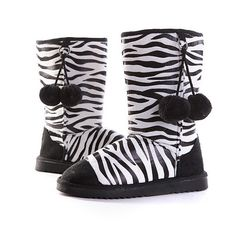 $10 Zebra Boot...she would love these!!!