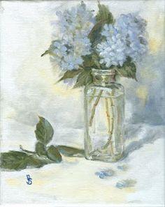 Blue Hydrangeas Painting idea