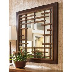 arts and crafts Island Fusion Mikasa Square Mirror with Asian Fretwork from Tommy Bahama Home Furniture Asian Home Decor, Diy Home Decor, Asian Wall Decor, Room Decor, Modern Wall Decor, Spiegel Design, Mirrors Wayfair, Dresser With Mirror, Wood Dresser