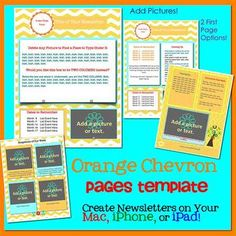 Chevron Multicolored Theme  Newsletter Template Word  Newsletter