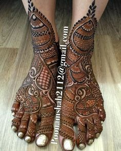 Browse thousands of Mehendi Design Image on Happy Shappy. You can save photos view images and more like designs for hands, feet, backhand and more. Leg Mehendi Design, Mehndi Designs Feet, Leg Mehndi, Indian Mehndi Designs, Mehndi Design Pictures, Mehndi Images, Henna Mehndi, Hena Designs, Foot Henna