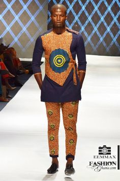 [showbiz fashionshows] Dorkenoo opened the fashion show on the very first own day of Glitz Africa Fashion Week 2014 in grand style and presented an ecletic African Wear Styles For Men, African Shirts For Men, Ankara Styles For Men, African Dresses Men, African Attire For Men, African Clothing For Men, African Style, Nigerian Men Fashion, African Print Fashion