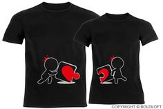 Incomplete Without You™ His & Hers Couple Shirts Black by BoldLoft on Etsy https://www.etsy.com/listing/209799538/incomplete-without-you-his-hers-couple