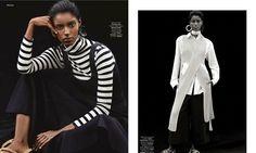 Senait Gidey Models Monochromatic Looks for Stylist by Alvaro Beamud Cortes - Fashion Gone Rogue