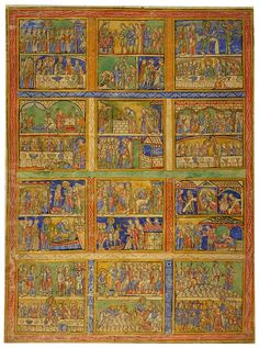 Biblical cycle, leaf from the prefatory cycle of the Eadwine Psalter. - The Morgan Library & Museum - Collections