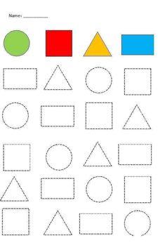 Shape Worksheets For Preschool, Shapes Worksheets, Preschool Writing, Numbers Preschool, Kindergarten Math Worksheets, Alphabet Worksheets, Tracing Worksheets, Preschool Shapes, Alphabet Tracing
