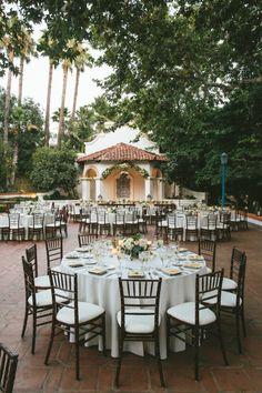 patio reception dinner | Wedding Chicks Feature | John Robert Woods Photography | Rancho Las Lomas | 24 carrots Catering