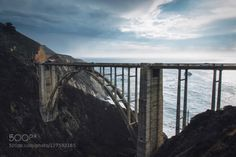 Bixby Bridge Big Sur California by szmmediaca  Big Sur Bixby bridge Bridge California Canon Clouds Mood Ocean Pacific coast highway Storm Travel Bi