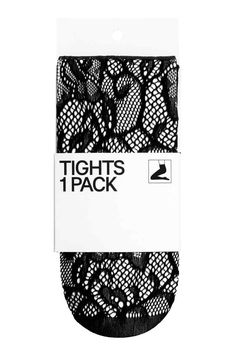 Lace tights - Black/Lace - Ladies | H&M GB 1