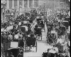 Outside the Bank of England, London, 1897  If there was ever a time for the congestion charge - the traffic looks worse outside the Bank of England in 1897 than it does today.