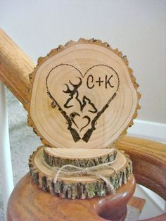 Wedding Cakes Rustic Wedding Cake Topper Personalized Wood by SweetHomeWoods