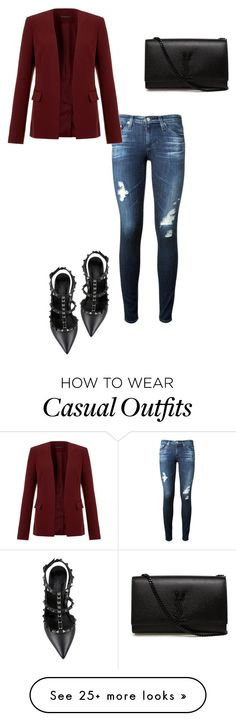 """""""Casual Chic"""" by yassooo on Polyvore featuring AG Adriano Goldschmied, Theory, Yves Saint Laurent and Valentino"""