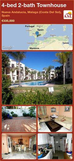4-bed 2-bath Townhouse in Nueva Andalucia, Malaga (Costa Del Sol), Spain ►€335,000 #PropertyForSaleInSpain