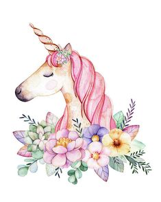 Magical Watercolor Unicorn Boho Wall Art Print Baby Girl Nursery Fantasy Home Be.,Magical Watercolor Unicorn Boho Wall Art Print Baby Girl Nursery Fantasy Home Bedroom Kids Room Decor Magical Watercolor Unicorn art print by Pink For. Watercolor Unicorn, Unicorn Painting, Unicorn Art, Watercolor Paintings, Unicorn Drawing, Unicorn Kids, Magical Unicorn, Unicorn Glass, Watercolor Art