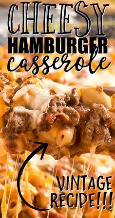 Elbow Macaroni Recipes, Hamburger Macaroni, Macaroni Casserole, Hamburger Dishes, Lasagna Casserole, Beef Casserole Recipes, Cheeseburger Casserole, Hamburger Casserole, Beef Recipes