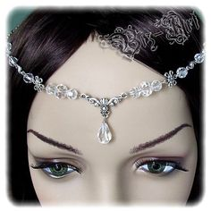 Floral Crystal Renaissance Medieval Circlet Headpiece Headdress Wedding First Communion Bridal Prom on Etsy, $22.00