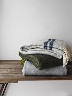 British Made Wool throws.