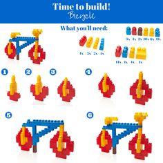 Here's a fun #challenge for today, Build a bicycle! :) #Megabloks #TimetoBuild #DIY #Building #Activity #LearningGames #BlockBuilding