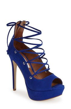 Steve Madden 'Bimmi' Lace-Up Pump (Women) at Nordstrom.com. A peep-toe silhouette refreshes a leather cage pump taken to towering new heights with a setback stiletto heel.