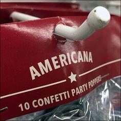 Americana Patriotic Partyware Blunted Display Hook