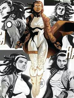 Captain Marvel (aka Photon), (aks Pulsar), (aka Spectrum)   Monica Rambeau