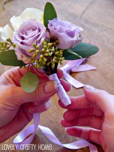 How to make silk flower boutonniere wedding boutonniere diy more information mightylinksfo
