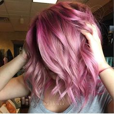 Cupid, Blush, and Clear... @hairbyrachh is the artist... Pulp Riot is the paint.