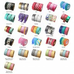 3-Pack Collections Japanese Paper Washi Tape - Available in 26 Styles!