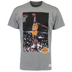 Men's Los Angeles Lakers Kobe Bryant Mitchell & Ness Gray Current Player…