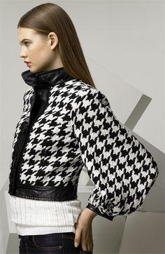 D&G Dolce & Gabbana Balloon Sleeve Houndstooth jacket