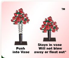 The best way to keep flowers in a cemetery vase.