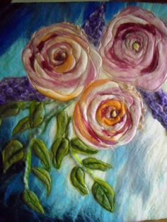 at some point wet felting and refeathering will slide into each other.just photo, no link Wet Felting Projects, Needle Felting Tutorials, Needle Felted Animals, Felt Animals, Logo Foto, Felt Pictures, Fibre And Fabric, Wool Art, Ribbon Art