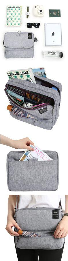 US$14.99 Women Men Unisex Outdoor Large Capacity Functional Laptop Shoulder Bag Crossbody Bag