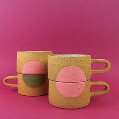 Fun and pink for a hot drink!