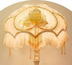 Dome shaped Victorian lamp shade