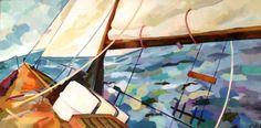 Rosemary Leach - Pilgrimage V, 40 x 20,  http://www.rosemaryleach.com/rosemaryleach/Paintings.html