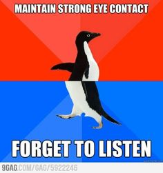 socially akward penguin