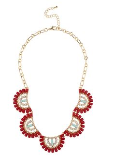 Shop Prima Donna - Issa Stone Strand Necklace Red