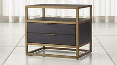 Oxford 2-Drawer Nightstand   Crate and Barrel