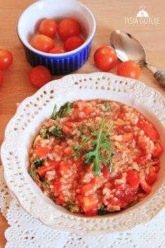 Ryż z warzywami w sosie pomidorowym | Tysia Gotuje blog kulinarny Thai Red Curry, Ethnic Recipes, Blog, Blogging
