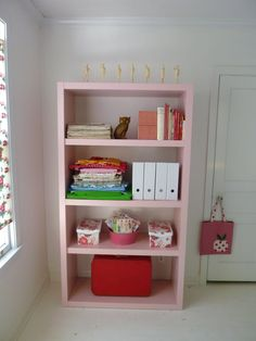 home office on pink cupcake vintage