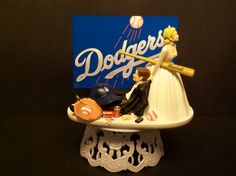 LA Dodgers Baseball or your team Bride and Groom by mikeg1968, $69.99